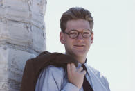 British actor Kenneth Branagh, playing the role of Guy Pringle, poses for a photograph during the filming of the new BBC drama series 'Fortunes of War', whilst on location near Athens, Greece, in April, 1987. Actors Kenneth Branagh and Emma Thompson played a married couple in the series. Having met during the filming of the TV series the couple went onto marry in real life. (Photo by Bryn Colton/Getty Images)