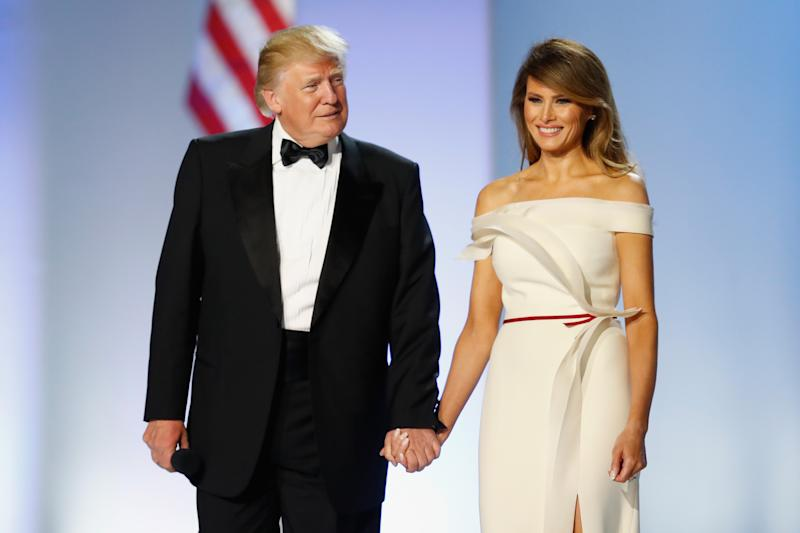 The book claims Donald and Melania's marriage is just for show. Photo: Getty Images