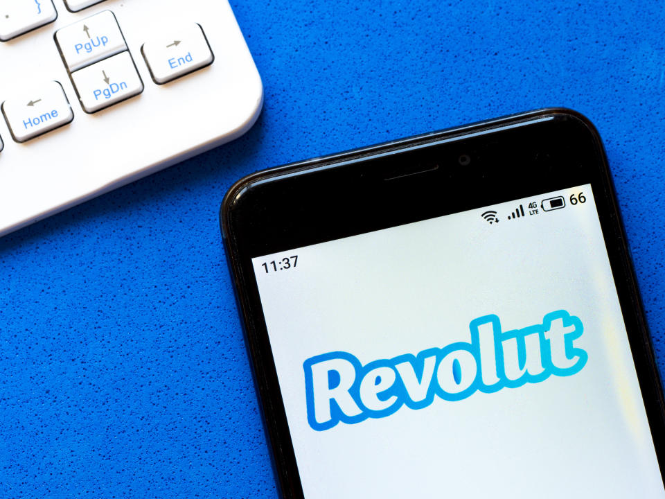 UKRAINE - 2020/05/02: In this photo illustration a Revolut logo seen displayed on a smartphone. (Photo Illustration by Igor Golovniov/SOPA Images/LightRocket via Getty Images)