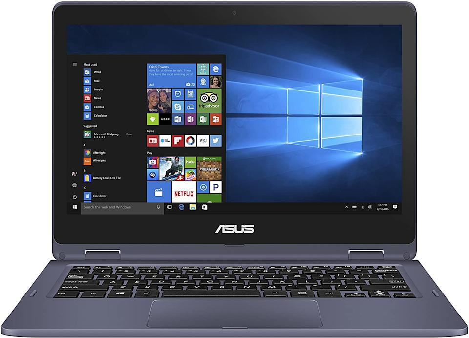 "Save 42% on the ASUS VivoBook Flip 11.6"" HD Touchscreen Laptop. Image via Amazon."