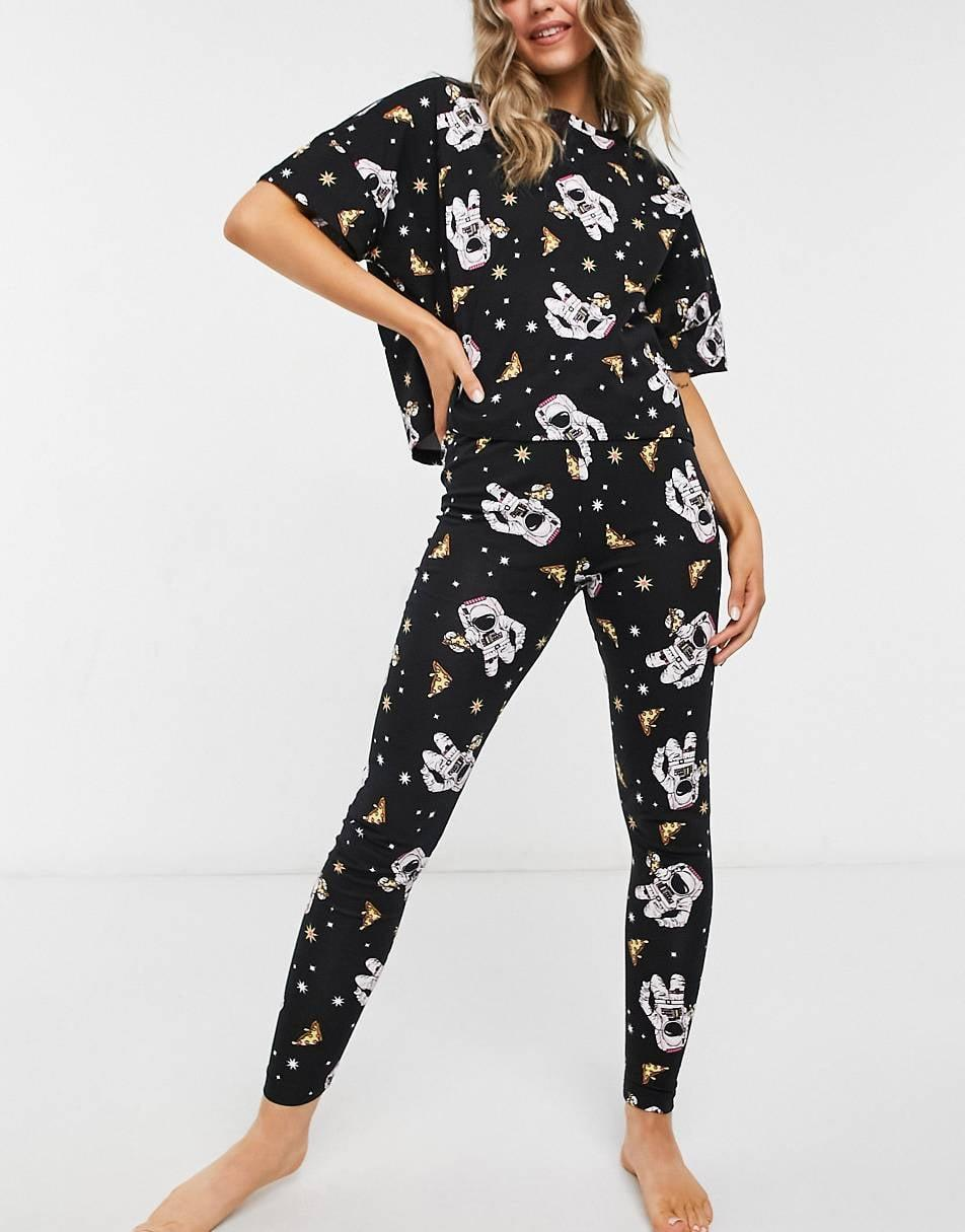 <p>Level up their PJ game with these cozy <span> Asos Design Pizza in Space Tee &amp; Legging Pajama Set </span> ($25, originally $35). They'll be able to enjoy their pizza nights at home comfortably in style. </p>