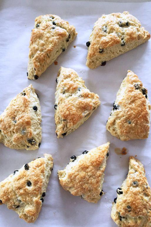 """<p>Eat 'em for breakfast or dessert. No matter how you serve them, these buttery bites will disappear in front of your eyes.</p><p><em><a href=""""http://sunnydaysgoodfood.com/in-the-tradition-of-irish-blueberry-scones/"""" rel=""""nofollow noopener"""" target=""""_blank"""" data-ylk=""""slk:Get the recipe from Sunny Days, Good Food »"""" class=""""link rapid-noclick-resp"""">Get the recipe from Sunny Days, Good Food » </a></em><br></p><p><strong>RELATED: </strong><a href=""""https://www.goodhousekeeping.com/food-recipes/easy/g871/quick-breakfasts/"""" rel=""""nofollow noopener"""" target=""""_blank"""" data-ylk=""""slk:30 Quick and Easy Breakfast Ideas for Your Busiest Mornings"""" class=""""link rapid-noclick-resp"""">30 Quick and Easy Breakfast Ideas for Your Busiest Mornings</a></p>"""