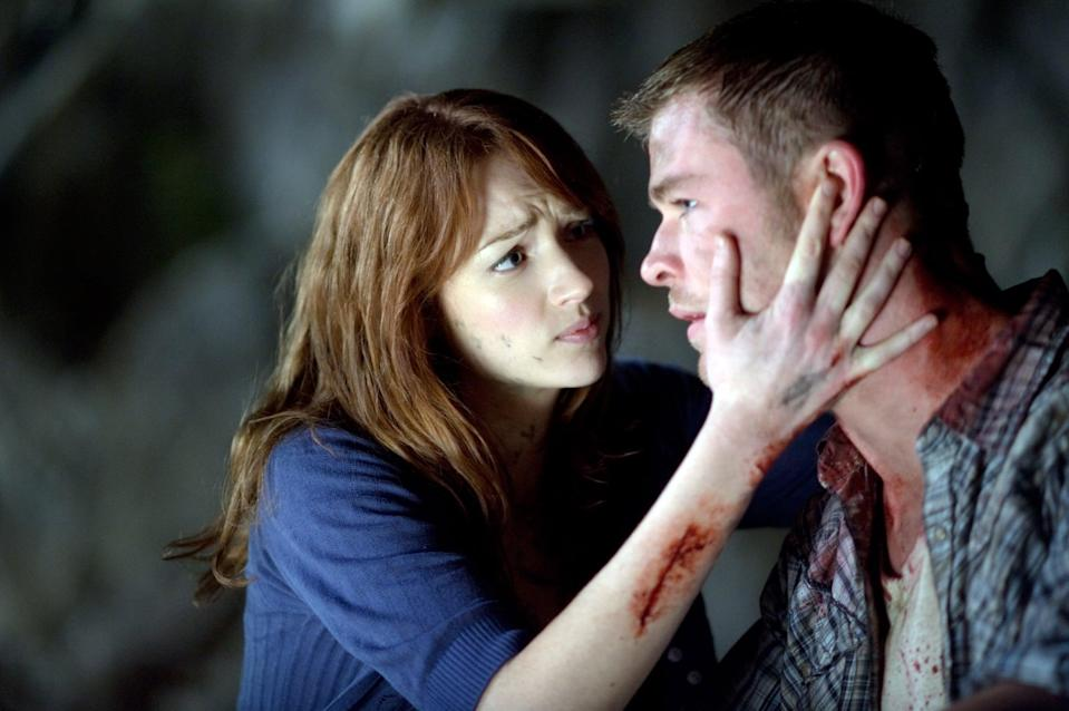"""<p>I think everyone saw this coming. <strong>Cabin in the Woods</strong> is a horror classic with its hysterical, meta dialogue and absolutely terrifying villains. It shows a group of stereotypical college kids going on a trip to a cabin, but it also shows the people creating the horror for them in a fun, fresh way. With a score of a whopping <a href=""""http://www.rottentomatoes.com/m/the_cabin_in_the_woods"""" class=""""link rapid-noclick-resp"""" rel=""""nofollow noopener"""" target=""""_blank"""" data-ylk=""""slk:92 percent on Rotten Tomatoes"""">92 percent on Rotten Tomatoes</a>, it was an instant hit.</p> <p><a href=""""https://www.hulu.com/movie/the-cabin-in-the-woods-fcc104f4-8914-4ff8-a203-f528d97940f7?entity_id=fcc104f4-8914-4ff8-a203-f528d97940f7"""" class=""""link rapid-noclick-resp"""" rel=""""nofollow noopener"""" target=""""_blank"""" data-ylk=""""slk:Watch Cabin in the Woods on Hulu"""">Watch <strong>Cabin in the Woods</strong> on Hulu</a>.</p>"""