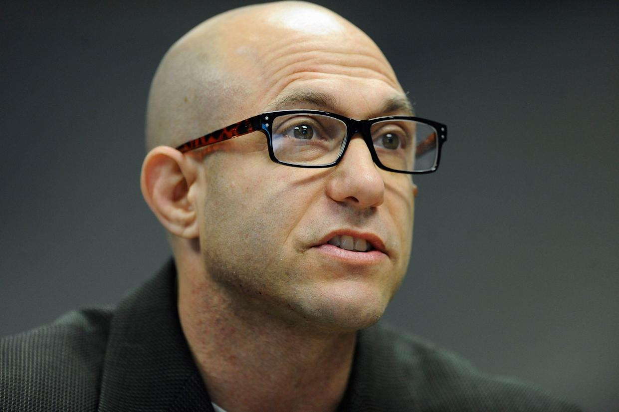 Jeremy Richman, father of Sandy Hook shooting victim Avielle Richman, addresses the Sandy Hook Advisory Commission in Newtown, Conn., in 2014. (Photo: Jessica Hill/AP)