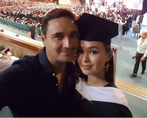 Kaila with dad John Estrada at her college graduation several years ago