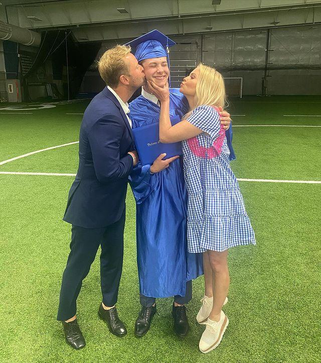 """<p>""""He did it!!! Our baby @maksim.bure graduated high school from NorthStar Christian Academy!"""" Cameron Bure <a href=""""https://www.instagram.com/p/CPMEO2thzrT/"""" rel=""""nofollow noopener"""" target=""""_blank"""" data-ylk=""""slk:wrote on May 22"""" class=""""link rapid-noclick-resp"""">wrote on May 22</a>. """"We are so happy and proud of you, son 💙. Looking forward to what God has in store for you next. Knowing your heart is set above and on Jesus, you are good to go👨🏼🎓🙏🏻🙌🏼 Joshua 1:9""""</p>"""