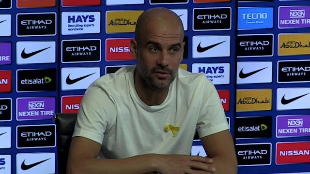 Manchester City manager Pep Guardiola pre match press conference v Swansea - SUBJECT: Targeting other records this season