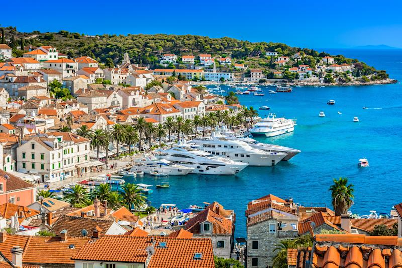 Colin and Araminta go to the Croatian island of Hvar for their honeymoon.