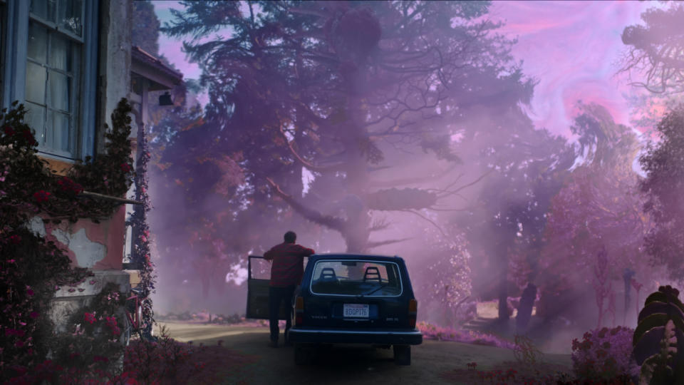 A farm falls under the spell of a strange meteor in 'Color Out of Space'. (Credit: Studiocanal)