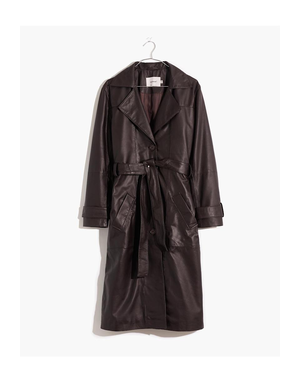 <p><span>Madewell Deadwood Recycled Leather Terra Trench Coat</span> ($670)</p>