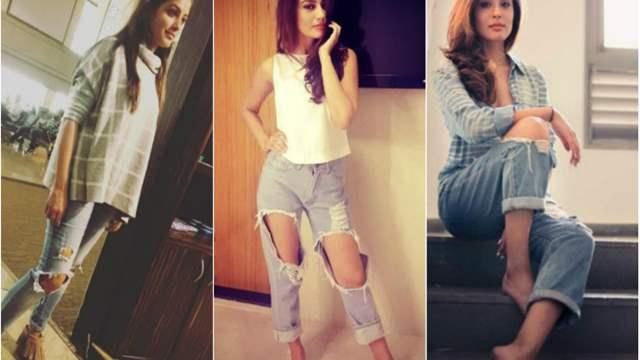 Indian women in ripped jeans making a style statement (Pic credit- India Forums)