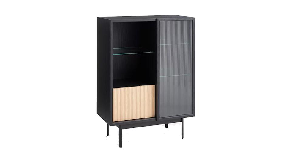 Fluted Glass Storage Cabinet