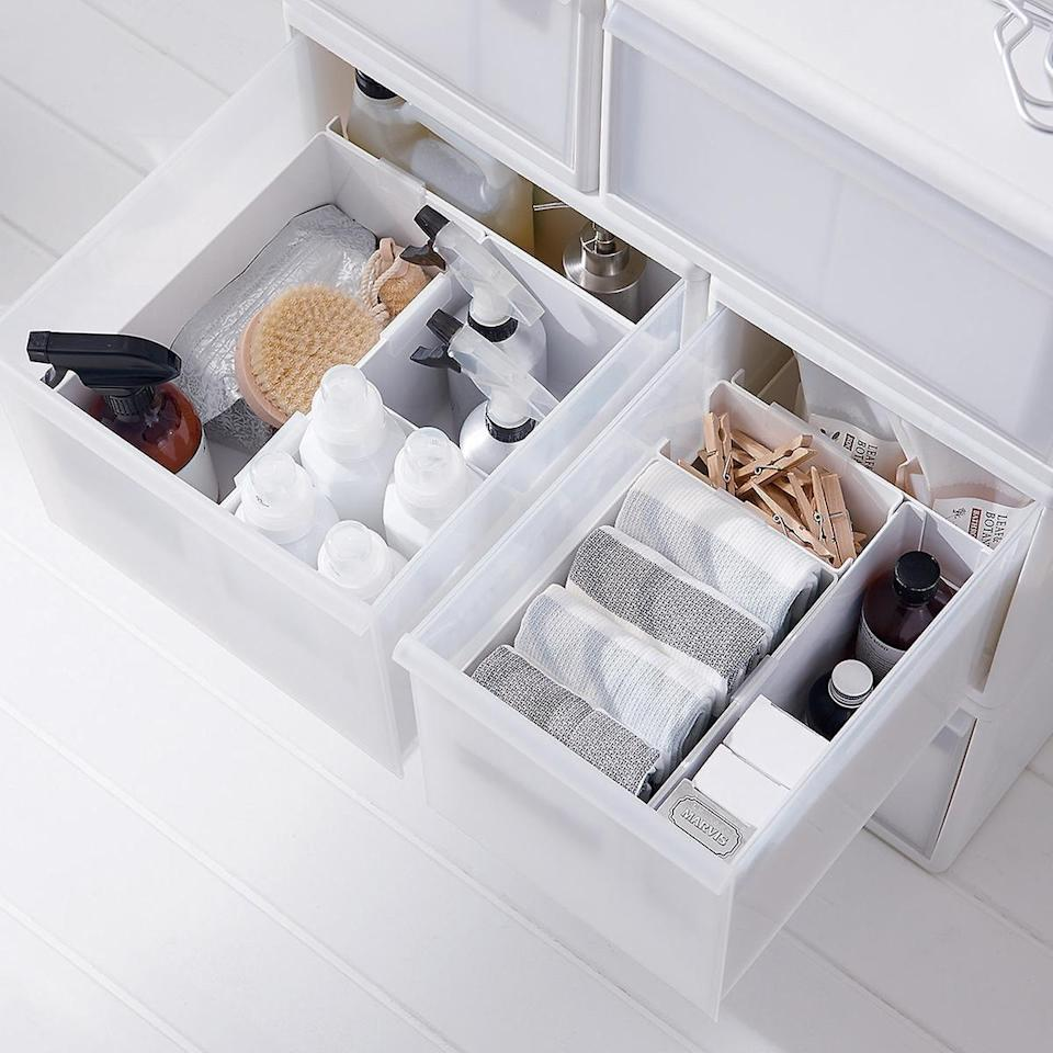 <p>These <span>Like-it Modular Drawer Organizers</span> ($5-$12) will keep your drawers looking better than ever.</p>