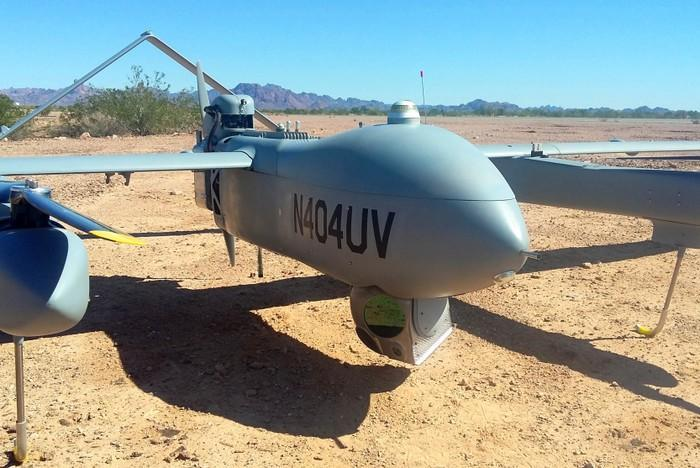 A Textron drone on the ground.