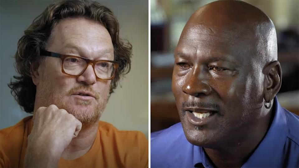 Australian basketball Luc Longley has spoken about how challenging Michael Jordan was as a teammate on the NBA championship winning Chicago Bulls. Pictures: ABC/Australian Story
