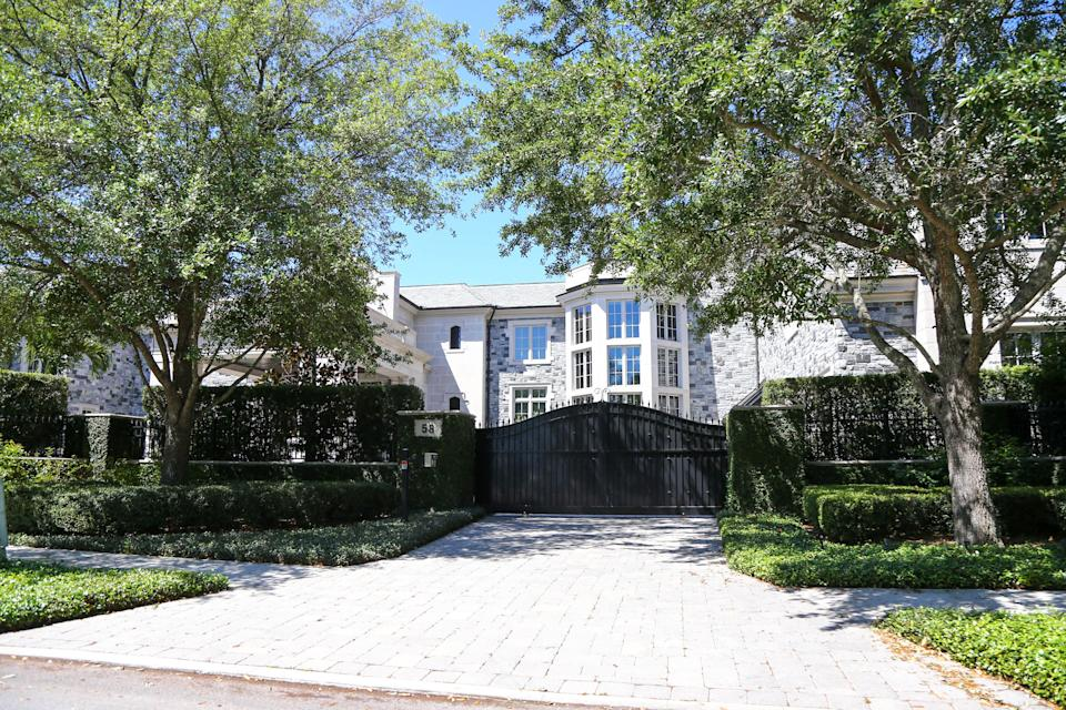 A general view of Miami Marlins part owner Derek Jeter  house where Tampa Bay Buccaneers quarterback Tom Brady (12) moves into on Davis Island. Mandatory Credit: Kim Klement-USA TODAY Sports