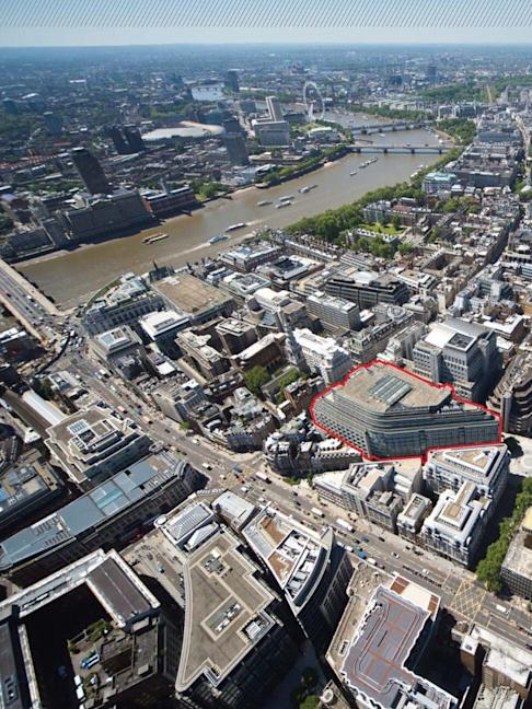River Court, outlined in red, is Chinese Estates' investment property in London. Photo: Handout