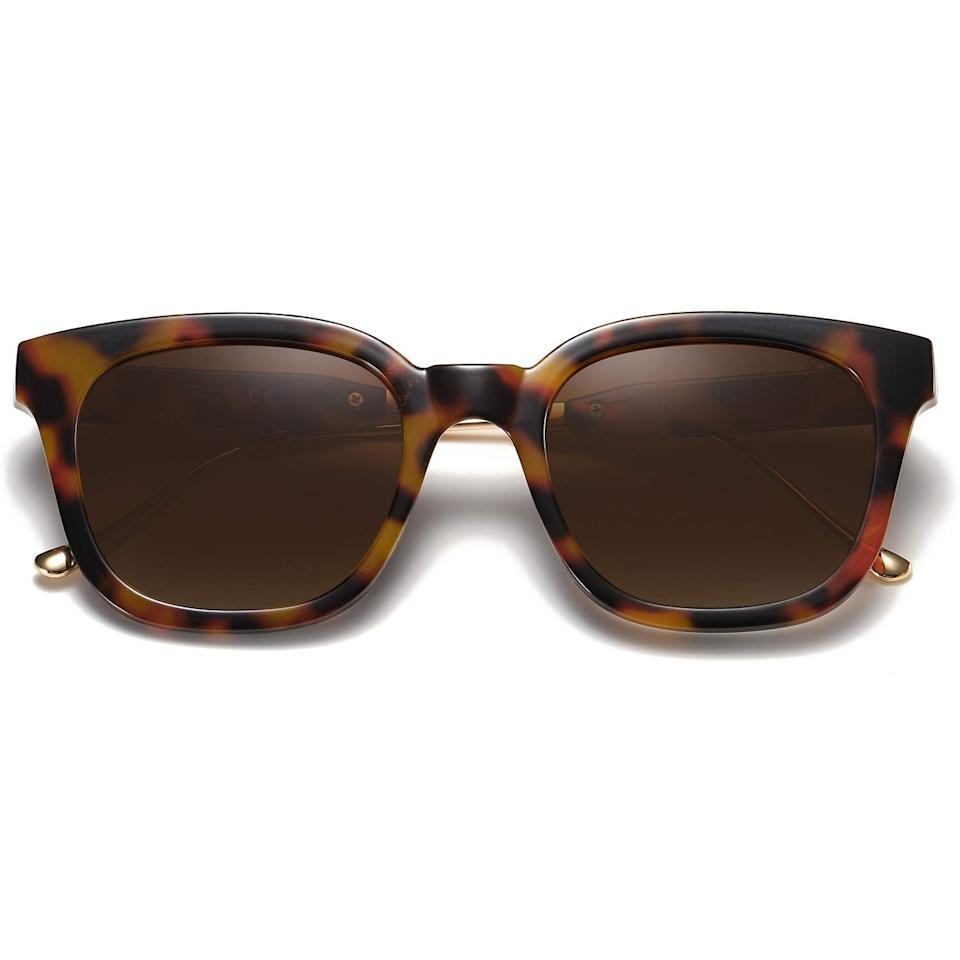 """<h3><a href=""""https://amzn.to/2Vy2RF0"""" rel=""""nofollow noopener"""" target=""""_blank"""" data-ylk=""""slk:Sojos Classic Square Polarized Sunglasses"""" class=""""link rapid-noclick-resp"""">Sojos Classic Square Polarized Sunglasses</a></h3><br>Our readers already stanned <a href=""""https://www.refinery29.com/en-us/amazon-blue-light-blocking-glasses"""" rel=""""nofollow noopener"""" target=""""_blank"""" data-ylk=""""slk:Sojos for its stylish blue-light-blocking lenses"""" class=""""link rapid-noclick-resp"""">Sojos for its stylish blue-light-blocking lenses</a>, but when an <a href=""""https://www.refinery29.com/en-us/best-things-on-amazon-hidden-gems#slide-19"""" rel=""""nofollow noopener"""" target=""""_blank"""" data-ylk=""""slk:Amazon Hidden Gem-er wrote in with this chic pair of sunnies"""" class=""""link rapid-noclick-resp"""">Amazon Hidden Gem-er wrote in with this chic pair of sunnies</a> from the brand their must-cart obsession intensified. <br><br><strong>Sojos</strong> Classic Square Polarized Sunglasses Unisex, $, available at <a href=""""https://amzn.to/2SnY4ne"""" rel=""""nofollow noopener"""" target=""""_blank"""" data-ylk=""""slk:Amazon"""" class=""""link rapid-noclick-resp"""">Amazon</a>"""
