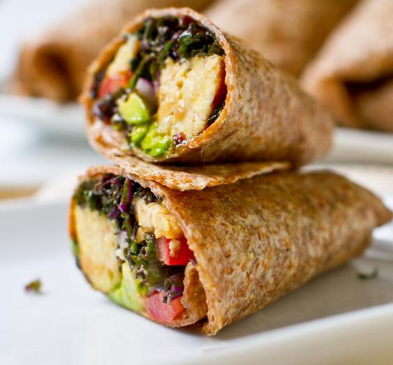 Lunch never looked so good: kale avocado wraps. (Photo: Lunchbox Bunch)