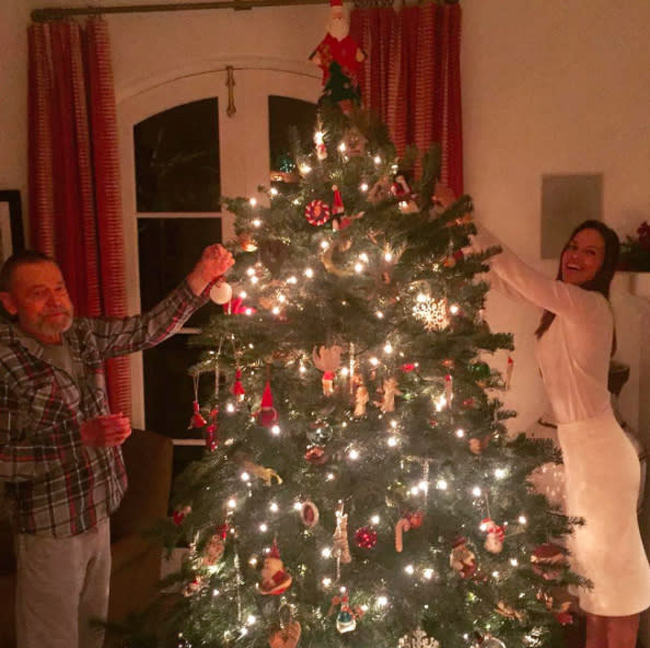 "<p>Don't you just wish you could jump into this cozy pic with Hilary Swank and her dad? ""My papa and I are decorating the tree over here, what are you all doing?"" the Oscar winner asked her followers. (Photo: <a rel=""nofollow"" href=""https://www.instagram.com/p/BODvc21DaNG/?"">Instagram</a>) </p>"