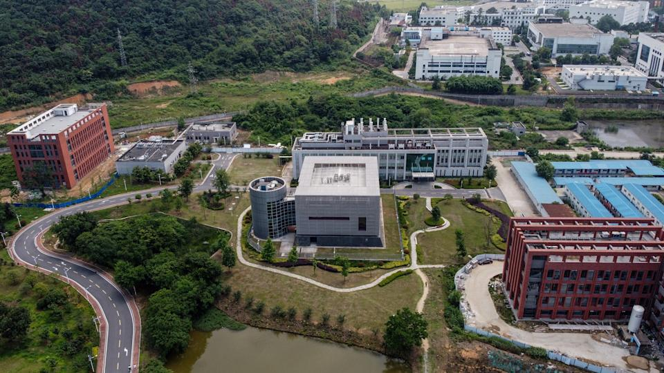 This aerial view shows the P4 laboratory (C) on the campus of the Wuhan Institute of Virology in Wuhan in China's central Hubei province on May 27, 2020. (AFP via Getty Images)