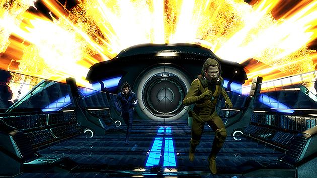 Spock and Kirk run in Star Trek: The Video Game