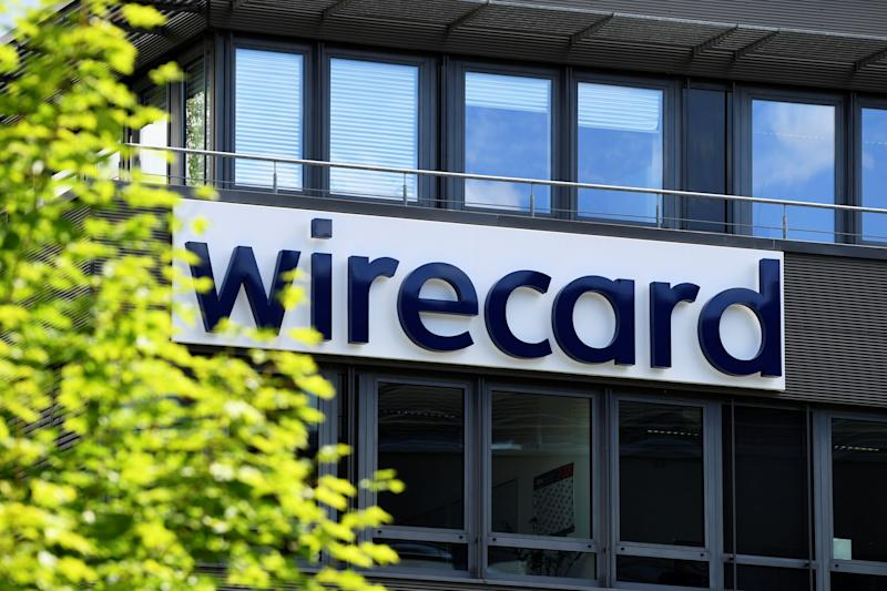 The logo of Wirecard AG, an independent provider of outsourcing and white label solutions for electronic payment transactions, is pictured at its headquarters in Aschheim, near Munich, Germany, July 1, 2020. REUTERS/Andreas Gebert