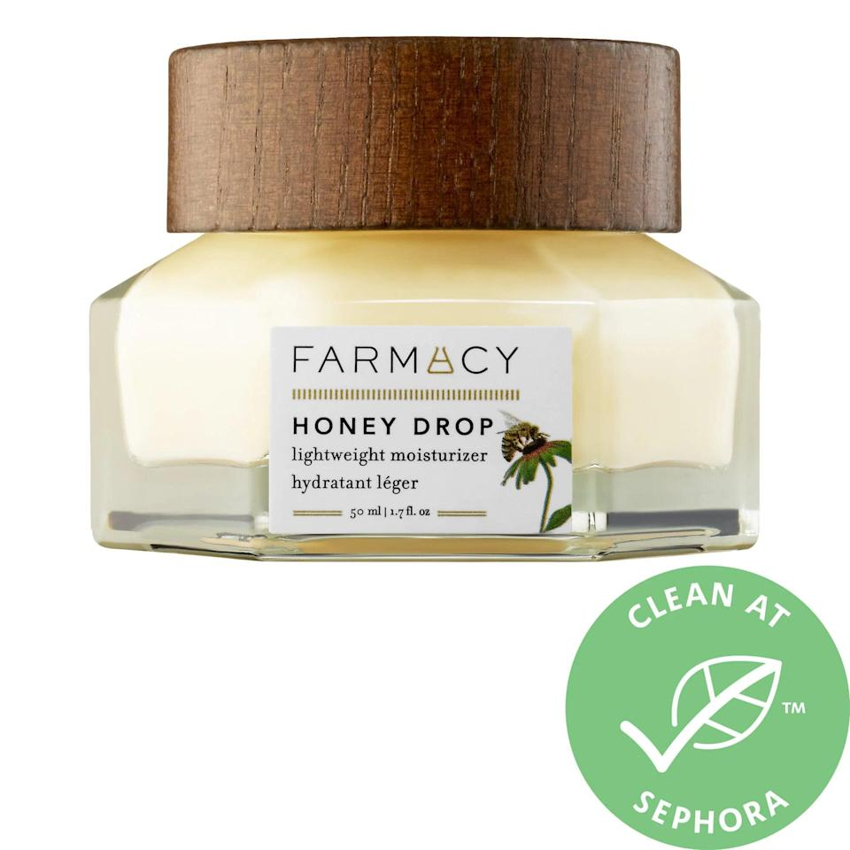 "<p>In a similar vein, you can probably move your thickest and most emollient face creams to the back of your medicine cabinet. Now is the time to let your lightweight formulas take center stage. Even those with oily skin will love the <a href=""https://www.popsugar.com/buy/Farmacy-Beauty-Honey-Drop-Lightweight-Moisturizer-574732?p_name=Farmacy%20Beauty%20Honey%20Drop%20Lightweight%20Moisturizer&retailer=sephora.com&pid=574732&price=45&evar1=bella%3Aus&evar9=47481688&evar98=https%3A%2F%2Fwww.popsugar.com%2Fbeauty%2Fphoto-gallery%2F47481688%2Fimage%2F47481706%2FLighten-Up-on-Moisturizer&list1=summer%20beauty%2Cbeauty%20tips&prop13=mobile&pdata=1"" rel=""nofollow noopener"" class=""link rapid-noclick-resp"" target=""_blank"" data-ylk=""slk:Farmacy Beauty Honey Drop Lightweight Moisturizer"">Farmacy Beauty Honey Drop Lightweight Moisturizer</a> ($45). With a soft honey scent, a gel texture, and clean ingredients, it's the perfect way to get in your daily dose of hydration without clogging your pores or giving your skin more than it needs.</p>"