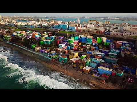 <p>The neighborhood of La Perla, in Puerto Rico's San Juan, shot to fame this year as the vibrant, colorful setting for Luis Fonsi and Daddy Yankee's viral music video collaboration with Justin Bieber, Despacito.</p><p>The video clocked up an incredible 3.8 billion YouTube views, and spiked interest from tourists in Puerto Rico.</p><p>Now, sadly, for locals and tourists, many of the brightly colored beachside houses seen in the video have been badly damaged by Hurricane Maria.</p><p>The aerial footage was recorded four days after the hurricane hit. Credit: Eloy Perez via Storyful</p>