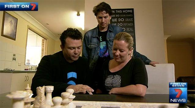 Jerome with his parents. Source: 7News