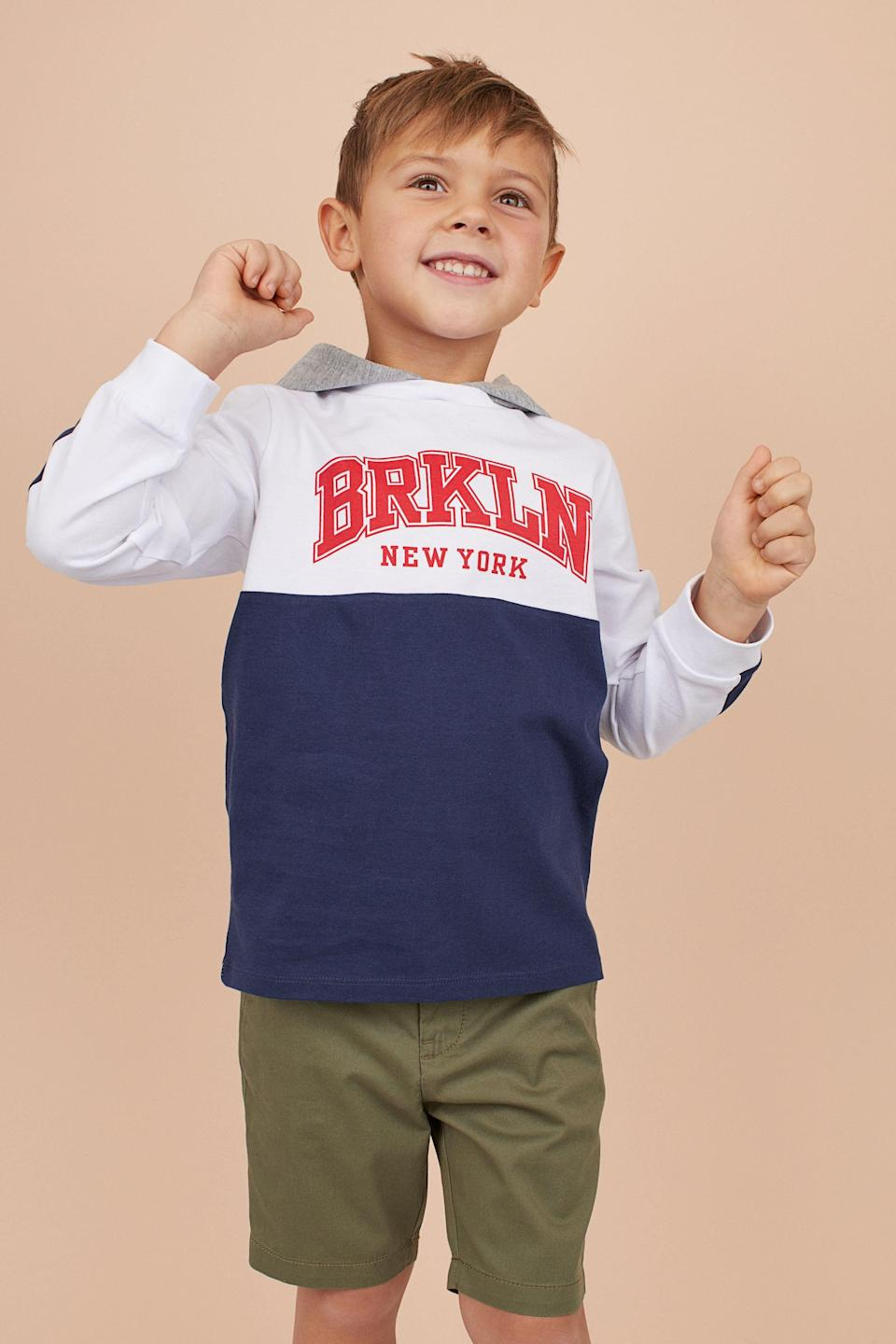 """<p><strong>Pictured: H&M Boys' Jersey Hoodie</strong></p><p>hm.com</p><p><strong>$5.99</strong></p><p><a href=""""https://go.redirectingat.com?id=74968X1596630&url=https%3A%2F%2Fwww2.hm.com%2Fen_us%2Fproductpage.0877079002.html&sref=https%3A%2F%2Fwww.goodhousekeeping.com%2Flife%2Fmoney%2Fg4609%2Fback-to-school-sales%2F"""" rel=""""nofollow noopener"""" target=""""_blank"""" data-ylk=""""slk:Shop Now"""" class=""""link rapid-noclick-resp"""">Shop Now</a></p><ul><li><strong>Save up to 65%</strong> on <a href=""""https://go.redirectingat.com?id=74968X1596630&url=https%3A%2F%2Fwww2.hm.com%2Fen_us%2Fsale%2Fkids%2Fview-all.html&sref=https%3A%2F%2Fwww.goodhousekeeping.com%2Flife%2Fmoney%2Fg4609%2Fback-to-school-sales%2F"""" rel=""""nofollow noopener"""" target=""""_blank"""" data-ylk=""""slk:kids' clothing"""" class=""""link rapid-noclick-resp"""">kids' clothing</a> at H&M. </li><li>Take up to <strong>60% off</strong> <a href=""""https://go.redirectingat.com?id=74968X1596630&url=https%3A%2F%2Fwww.walmart.com%2Fbrowse%2Fclothing%2Fkids-clothing%2F5438_7712430&sref=https%3A%2F%2Fwww.goodhousekeeping.com%2Flife%2Fmoney%2Fg4609%2Fback-to-school-sales%2F"""" rel=""""nofollow noopener"""" target=""""_blank"""" data-ylk=""""slk:kid's clothing"""" class=""""link rapid-noclick-resp"""">kid's clothing</a> and <a href=""""https://go.redirectingat.com?id=74968X1596630&url=https%3A%2F%2Fwww.walmart.com%2Fbrowse%2Fshoes%2Fgirls-shoes%2F5438_1045804_9450043&sref=https%3A%2F%2Fwww.goodhousekeeping.com%2Flife%2Fmoney%2Fg4609%2Fback-to-school-sales%2F"""" rel=""""nofollow noopener"""" target=""""_blank"""" data-ylk=""""slk:shoes"""" class=""""link rapid-noclick-resp"""">shoes</a> at Walmart.</li><li><strong>Save up to 60%</strong> during <a href=""""https://go.redirectingat.com?id=74968X1596630&url=https%3A%2F%2Fwww.nordstrom.com%2Fbrowse%2Fsale&sref=https%3A%2F%2Fwww.goodhousekeeping.com%2Flife%2Fmoney%2Fg4609%2Fback-to-school-sales%2F"""" rel=""""nofollow noopener"""" target=""""_blank"""" data-ylk=""""slk:Nordstrom's Anniversary sale"""" class=""""link rapid-noclick-resp"""">Nordstrom's Anniversary sale</a> now.<br></li><li><strong>Sa"""