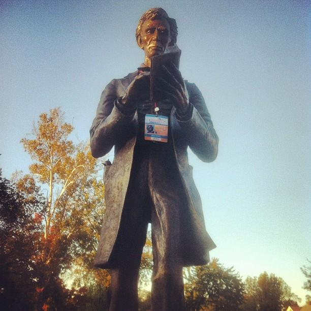 Abraham Lincoln has his VP debate credentials and he's ready to rock