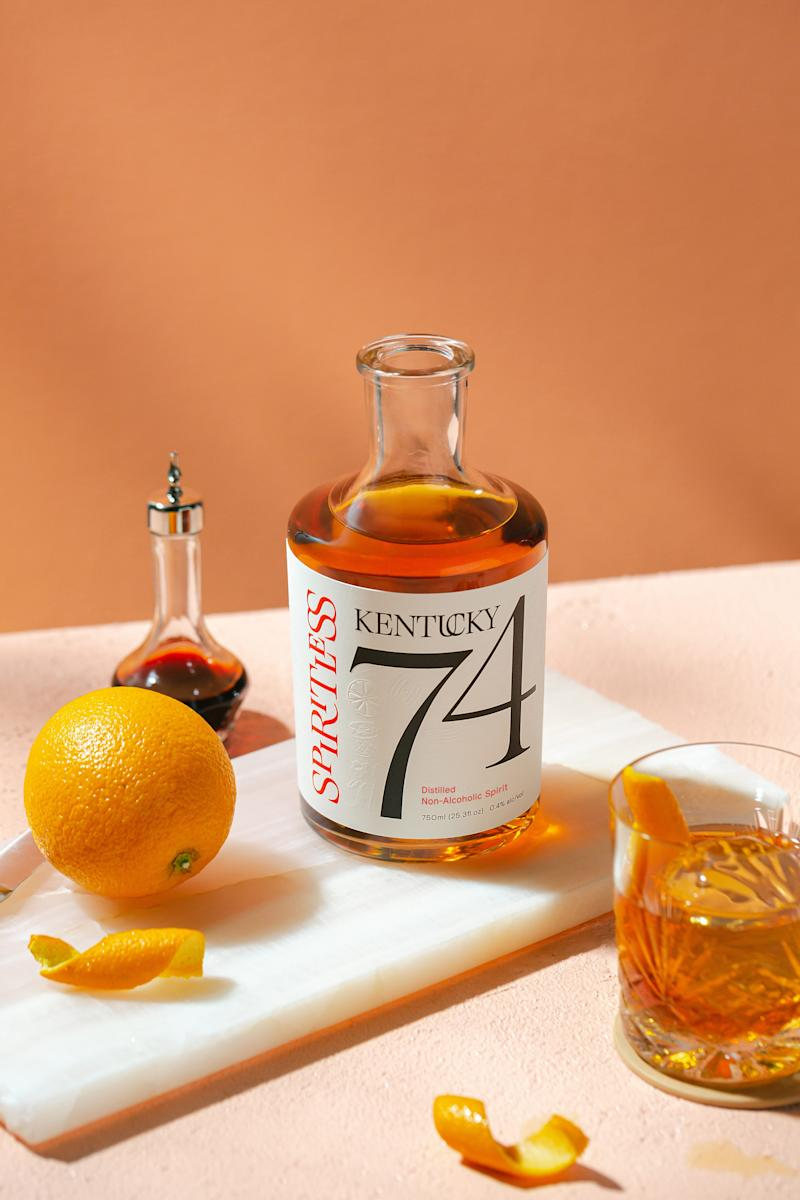 Kentucky 74 is Spiritless' first production, a distilled, non-alcoholic spirit that mimics the taste and feel of bourbon.