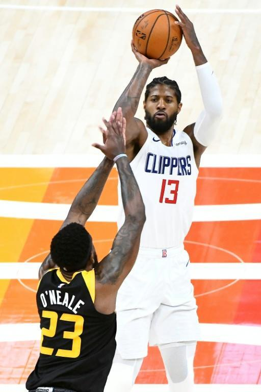 Paul George led the Los Angeles Clippers to a game five victory over the Utah Jazz in Salt Lake City