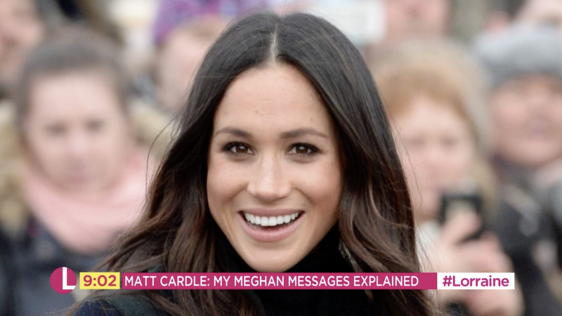 Meghan Markle reportedly exchanged messages with Cardle after he followed her on social media (ITV)