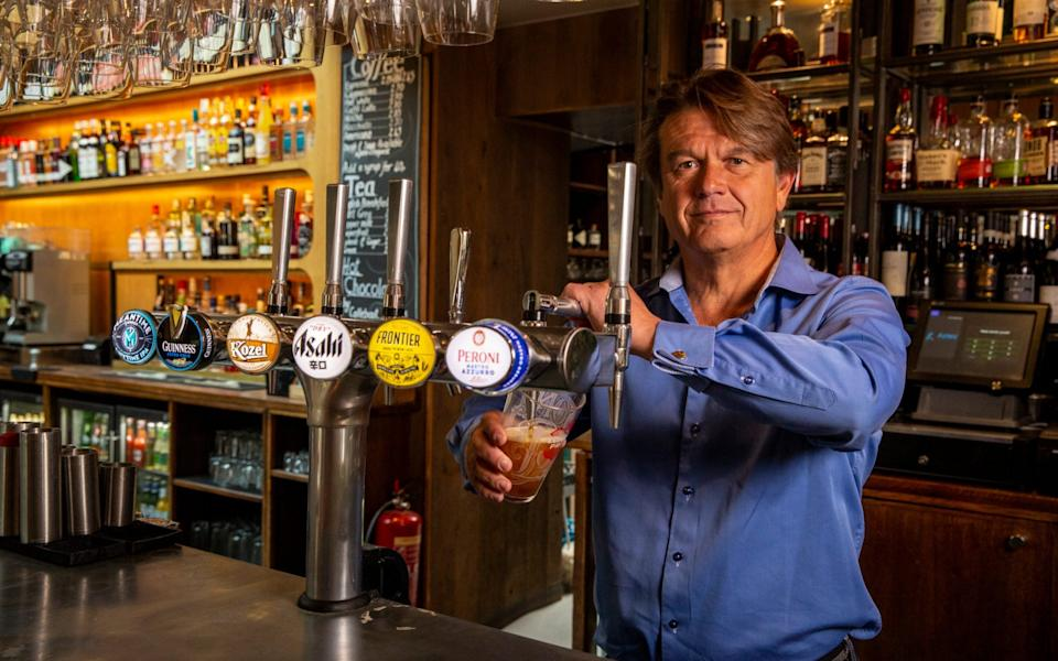 Publican Peter Borg-Neal at The Akeman pub and restaurant in Tring . He is planning to move from takeaways to full service on July 4. - Heathcliff O'Malley