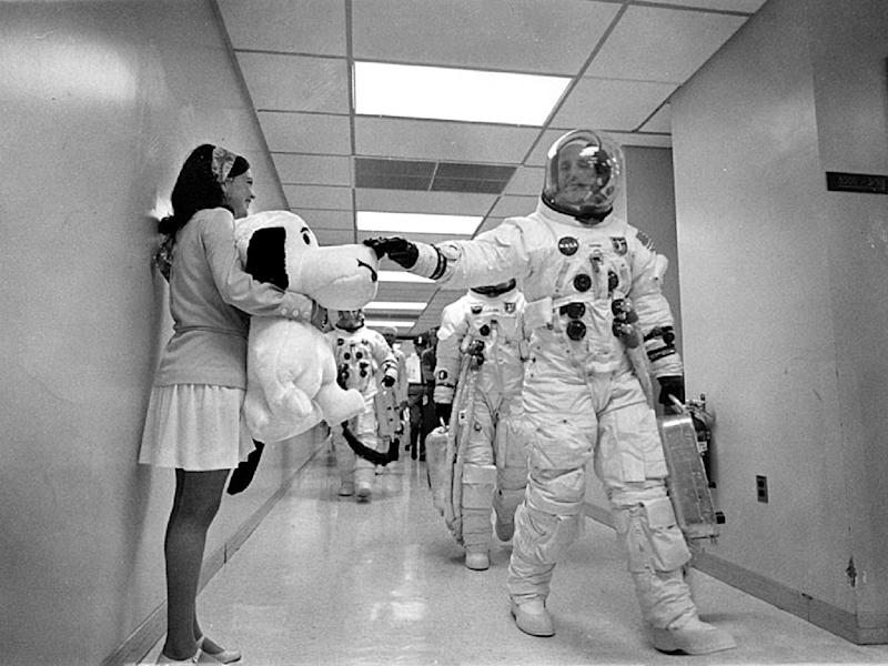 The Apollo 10 mission became synonymous with Snoopy and Charlie Brown in the minds of the public, because the three-man crew named their lunar module and command module after the iconic cartoon characters (AFP Photo/Handout)