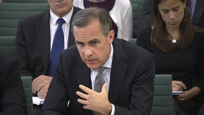 The Governor of the Bank of England Mark Carney speaks to parliament's Treasury Committee in Westminster, London, September 12, 2013. REUTERS/UK Parliament via Reuters TV