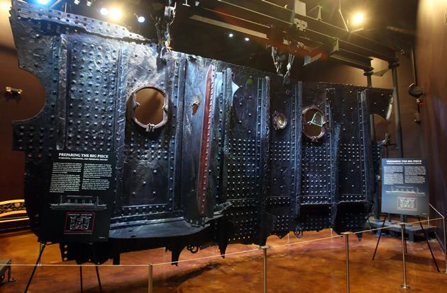 A 17-ton section of the RMS Titanic.
