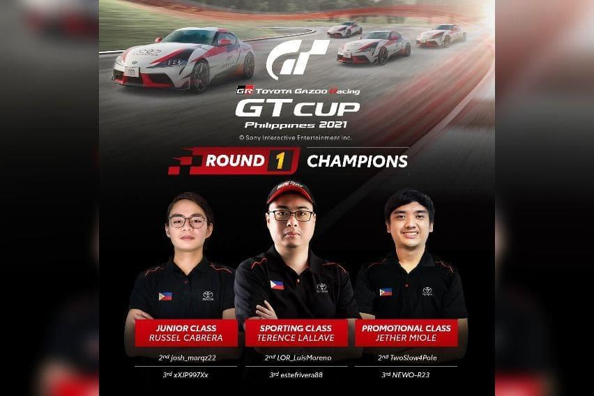 2021 Toyota GR-GT Cup Round 1 Champions