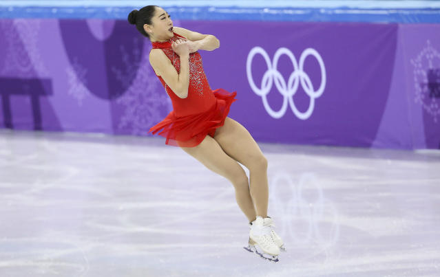GANGNEUNG, SOUTH KOREA – FEBRUARY 12: Mirai Nagasu of USA competes in the Ladies Free Skating during the Figure Skating Team Event on day three of the PyeongChang 2018 Winter Olympic Games. (Getty Images)