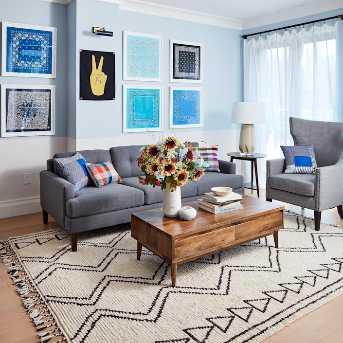 The stylish living area inside RealSimple's 3rd annual