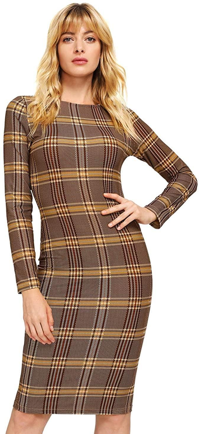 <p>This <span>MakeMeChic Plaid Dress</span> ($18) is perfect for fall.</p>