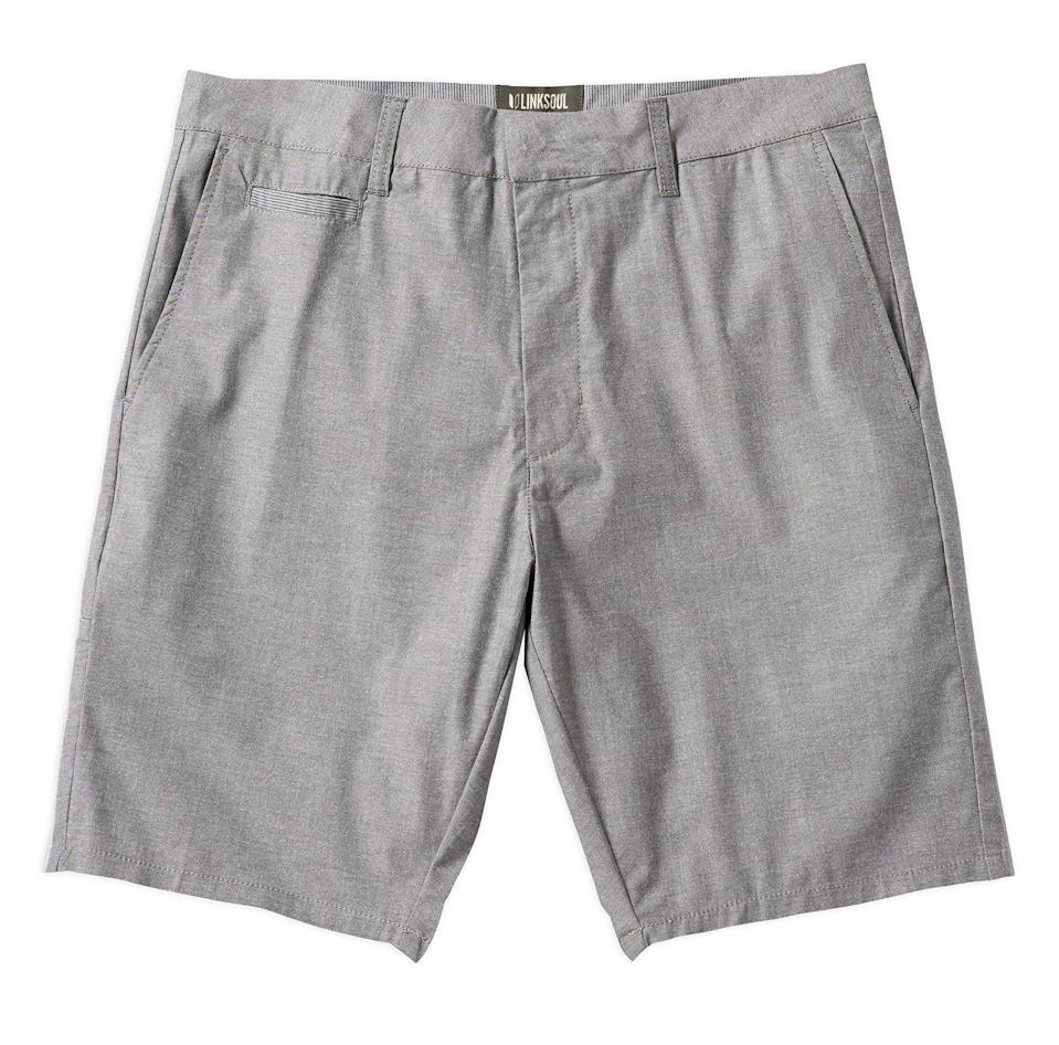 "<p><strong>Stretch Comfort Chambray Short</strong></p><p>linksoul.com</p><p><strong>$72.00</strong></p><p><a href=""https://linksoul.com/collections/mens-shorts/products/ls617?variant=28571836547147"" rel=""nofollow noopener"" target=""_blank"" data-ylk=""slk:Shop Now"" class=""link rapid-noclick-resp"">Shop Now</a></p><p>Linksoul carries just about every type of golf jawn you could want. These chambray shorts are a nice mix-up from your typical khaki-colored chino short. </p>"