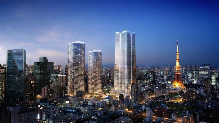 Aman Residences will take over the top 11 floors of a high-rise within the Toranomon-Azabudai district in Tokyo.