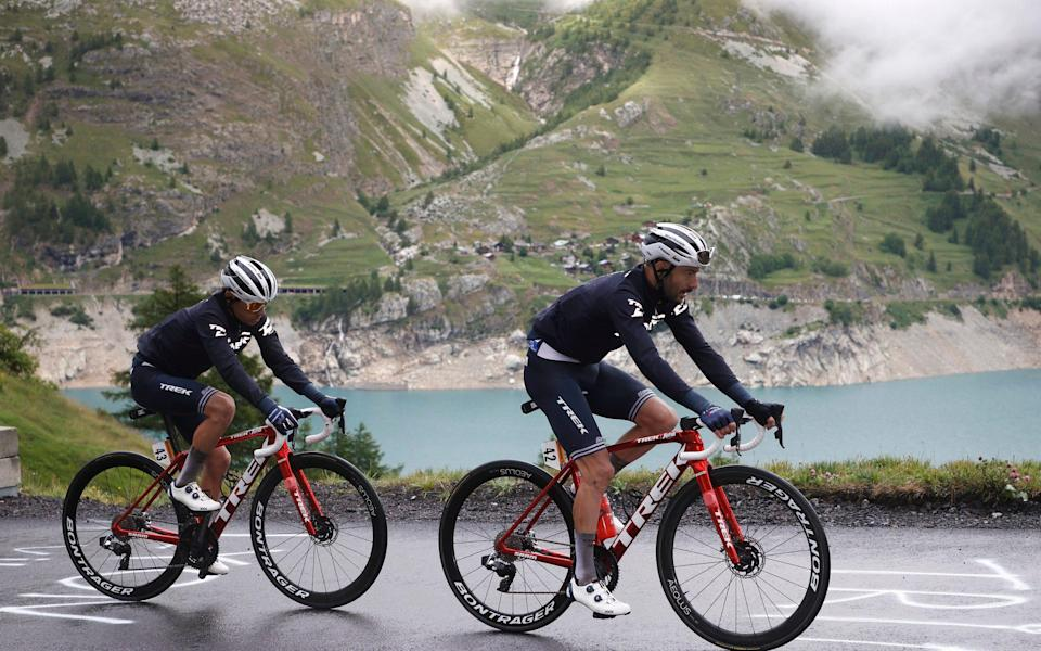 Mountain scenery on Stage 9 from Cluses to Tignes - Chris Graythen/Getty