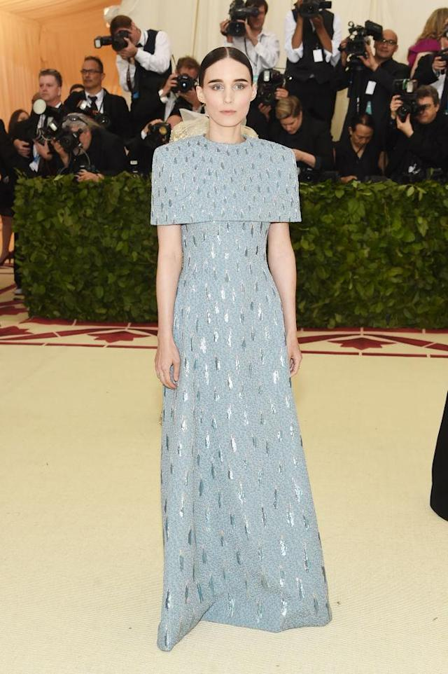 <p>Rooney Mara in Givenchy Haute Couture. (Photo: Getty Images) </p>