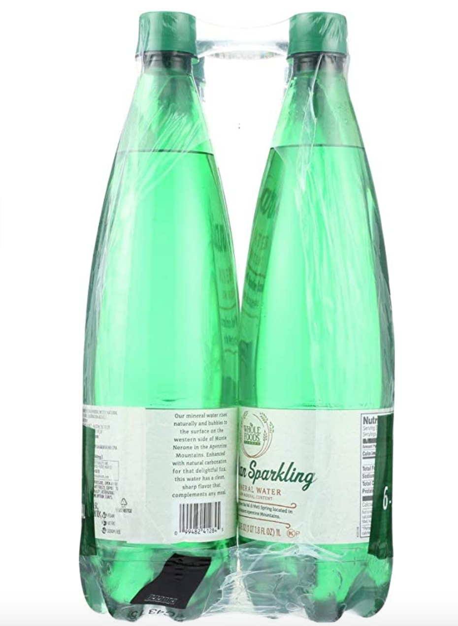 """<p><a class=""""link rapid-noclick-resp"""" href=""""https://www.amazon.com/Whole-Foods-Market-Italian-Sparkling/dp/B074H7VQX6/ref=sr_1_1?almBrandId=VUZHIFdob2xlIEZvb2Rz&dchild=1&fpw=alm&keywords=365+Everyday+Value+Italian+Sparkling+Mineral+Water&qid=1594335682&s=wholefoods&sr=1-1&tag=syn-yahoo-20&ascsubtag=%5Bartid%7C1782.g.22559891%5Bsrc%7Cyahoo-us"""" rel=""""nofollow noopener"""" target=""""_blank"""" data-ylk=""""slk:BUY NOW"""">BUY NOW</a></p><p>Crack open a bottle of Whole Foods' own Italian Sparkling Mineral Water and tell us it isn't the most refreshing thing you've ever tasted.</p>"""