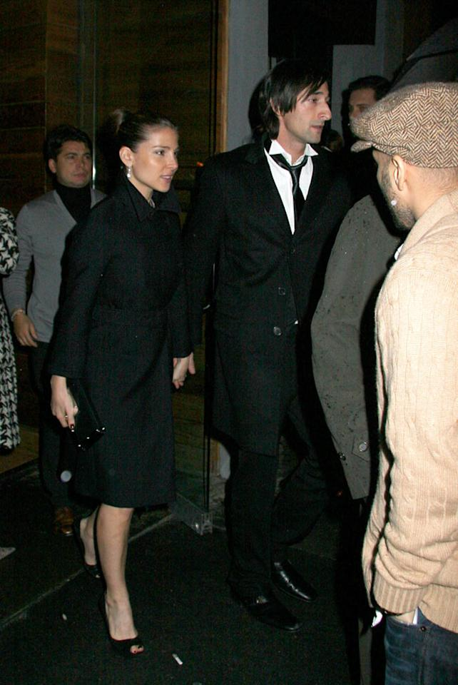 "Adrien Brody and his girlfriend Elsa Pataky make a classy pair. Perez/Abbot/<a href=""http://www.infdaily.com"" target=""new"">INFDaily.com</a> - November 13, 2007"