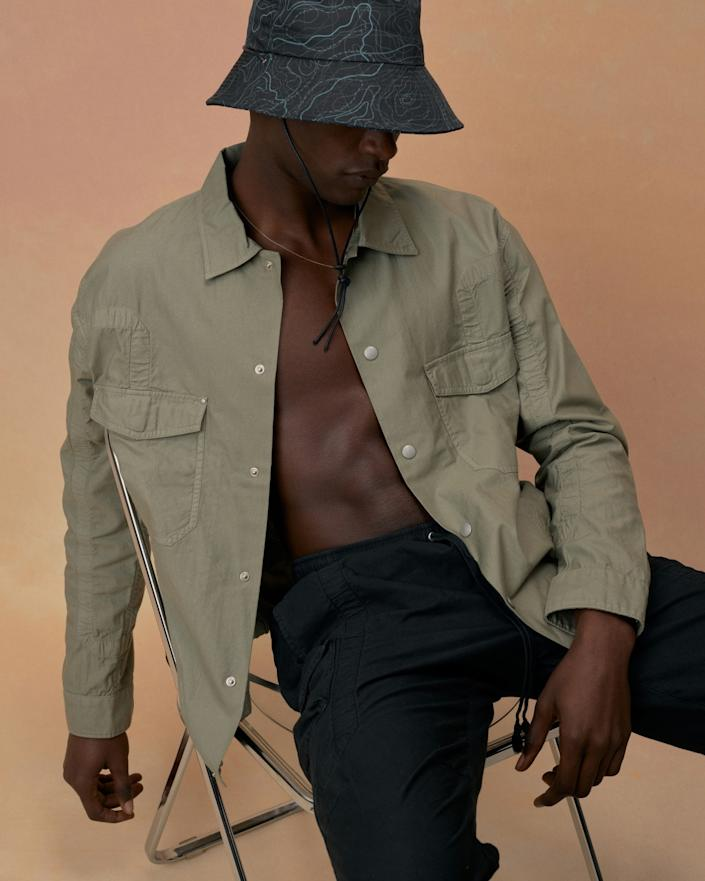 "A look from John Elliott's spring and summer 2021 menswear collection that was originally supposed to launch in July during men's fashion week in Paris but hasn't yet because of the pandemic. ""In a weird way I'm actually fine with that,"" Elliott says. <span class=""copyright"">(John Elliott)</span>"